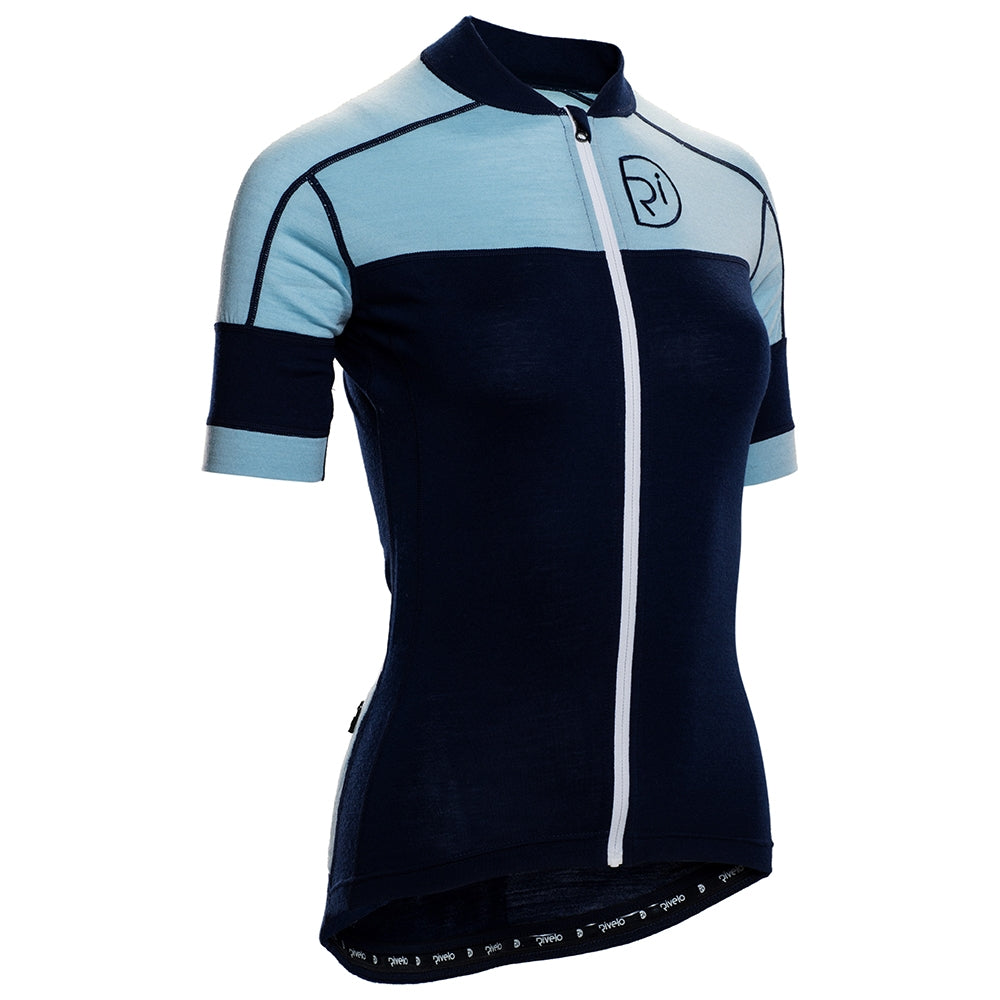 Rivelo Applecross Merino Jersey - Navy/Blue | Velo Vixen