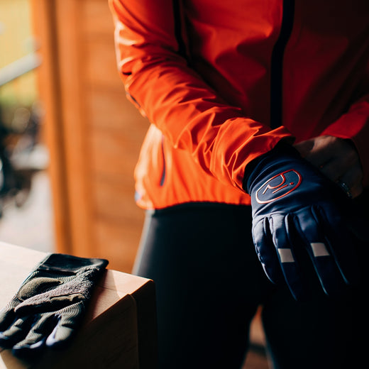 Rivelo Ashurst Softshell Gloves - Navy/Red