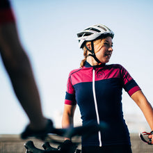 Load image into Gallery viewer, Rivelo Applecross Merino Jersey - Navy/Magenta