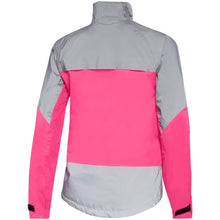 Load image into Gallery viewer, Madison Stellar Reflective Waterproof Jacket - Fiery Pink/Silver