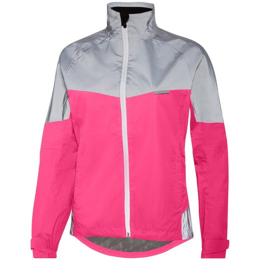 Madison Stellar Reflective Waterproof womens cycling Jacket - Fiery Pink/Silver