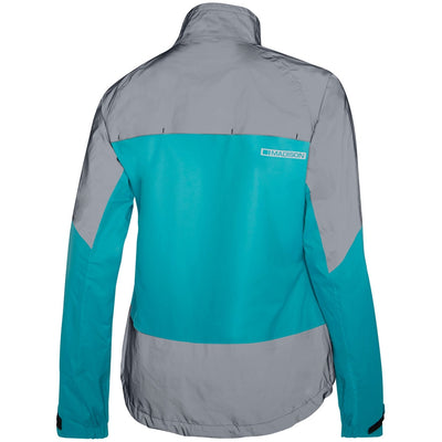 Madison Stellar Reflective Waterproof Jacket - Aqua Blue/Silver