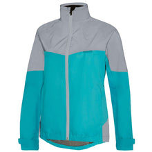 Load image into Gallery viewer, Madison Stellar Reflective Waterproof Jacket - Aqua Blue/Silver