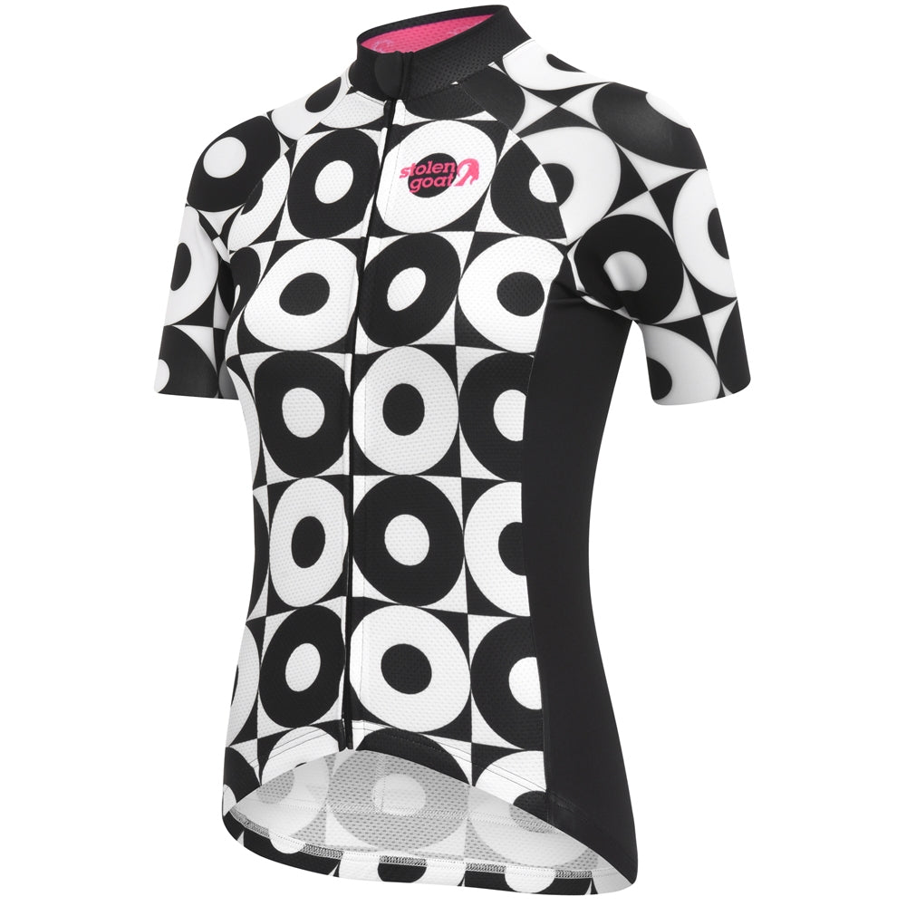 Stolen Goat Pin Cycling Jersey - black and white