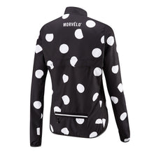 Load image into Gallery viewer, Morvelo Aegis polka dot water resistant female cycling jacket