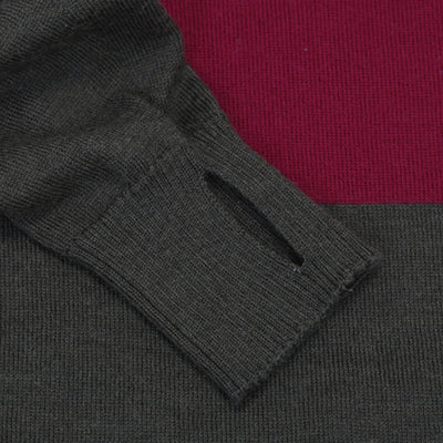 Jura Merino Jersey - Long Sleeve - Green/Plum