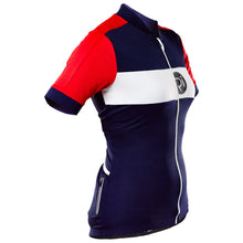 Load image into Gallery viewer, Rivelo Womens Rosedale Jersey - Navy/Red | VeloVixen