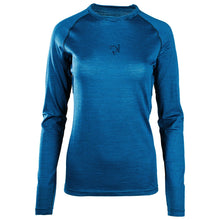 Load image into Gallery viewer, Rivelo Ashdown Merino Long Sleeve Base Layer - Teal/Navy | Velo Vixen