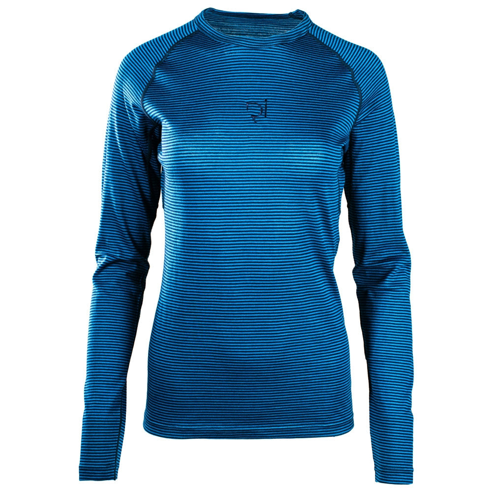Rivelo Ashdown Merino Long Sleeve Base Layer - Teal/Navy | Velo Vixen