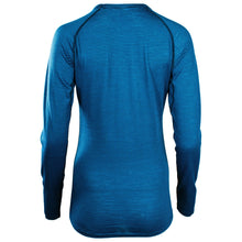 Load image into Gallery viewer, Rivelo Ashdown Merino Long Sleeve Base Layer - Teal/Navy