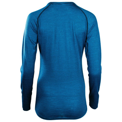 Rivelo Ashdown Merino Long Sleeve Base Layer - Teal/Navy