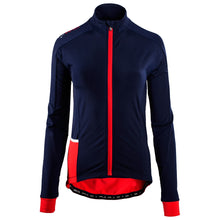 Load image into Gallery viewer, Rivelo Frensham Thermal Long Sleeve Jersey - Navy/Red | Velo Vixen