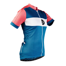 Load image into Gallery viewer, Rivelo Womens Rosedale Jersey - Teal/Coral | VeloVixen