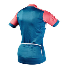Load image into Gallery viewer, Rivelo Womens Rosedale Jersey - Teal/Coral