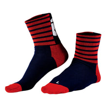 Load image into Gallery viewer, Rivelo Stanage Socks - Navy/Red | VeloVixen