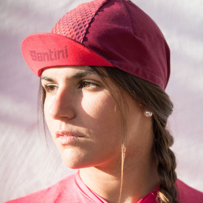 Santini Tono Cycling Cap - Red