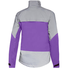 Load image into Gallery viewer, Madison Stellar Reflective Waterproof Jacket - Electric Purple/Silver