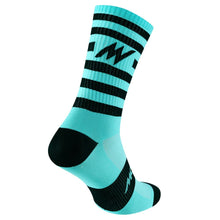 Load image into Gallery viewer, Morvélo Series Stripe Socks - Celeste