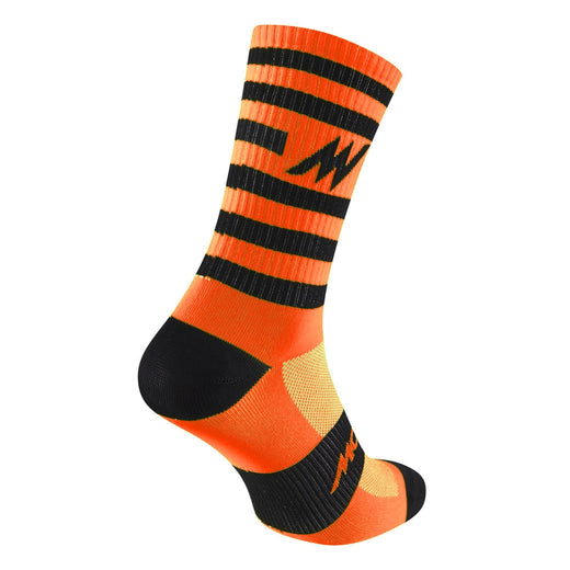Morvelo stripy orange cycling socks