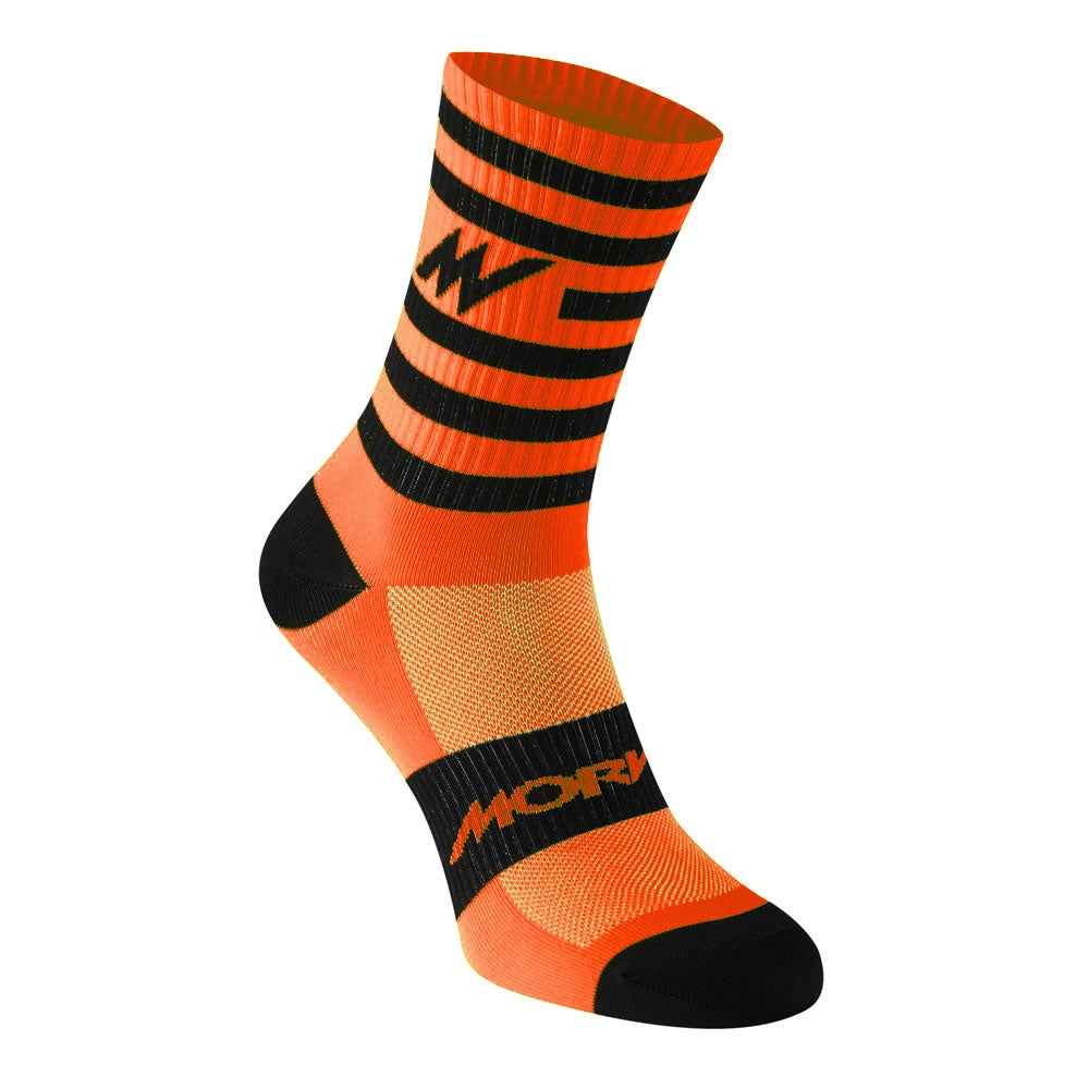 Morvelo Series Stripe Socks - Orange