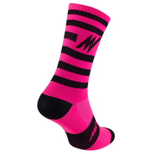 Load image into Gallery viewer, Morvélo Series Stripe Socks - Fluro Pink