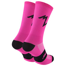 Load image into Gallery viewer, Morvelo Series Emblem Fluro Pink Women's Cycling Sock | VeloVixen