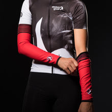 Load image into Gallery viewer, Stolen Goat Orkaan Waterproof Arm Warmers - Red Haze