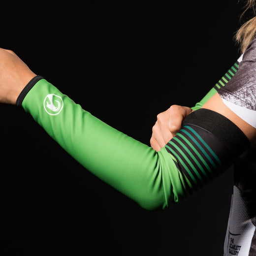 Stolen Goat Orkaan Waterproof Arm Warmers - Green Haze