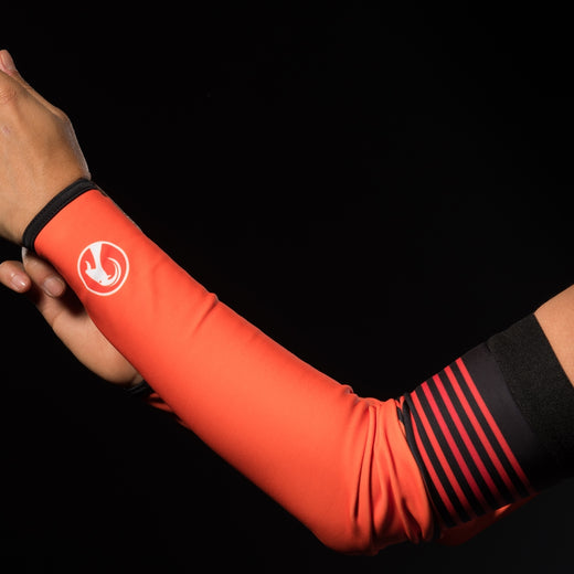 Stolen Goat Orkaan Waterproof Arm Warmers - Orange Haze