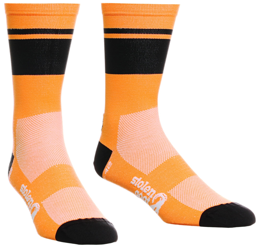 Stolen Goat Coolmax Socks - Orange Krush | Velo Vixen