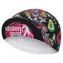 Load image into Gallery viewer, Stolen Goat womens cycling hat - wacky design