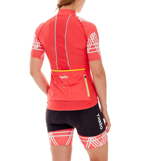 Threo Hope Valley Cycling Jersey - Coral/White