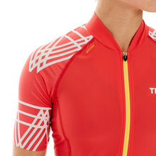 Load image into Gallery viewer, Threo Hope Valley Cycling Jersey - Coral/White
