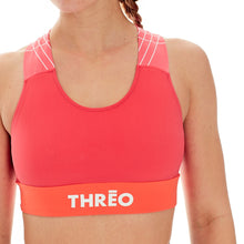 Load image into Gallery viewer, Threo Holland Park Sports Crop Top - Coral | Velo Vixen