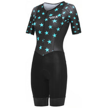 Load image into Gallery viewer, Stolen Goat Evol Sleeved Tri-suit - Blue | VeloVixen