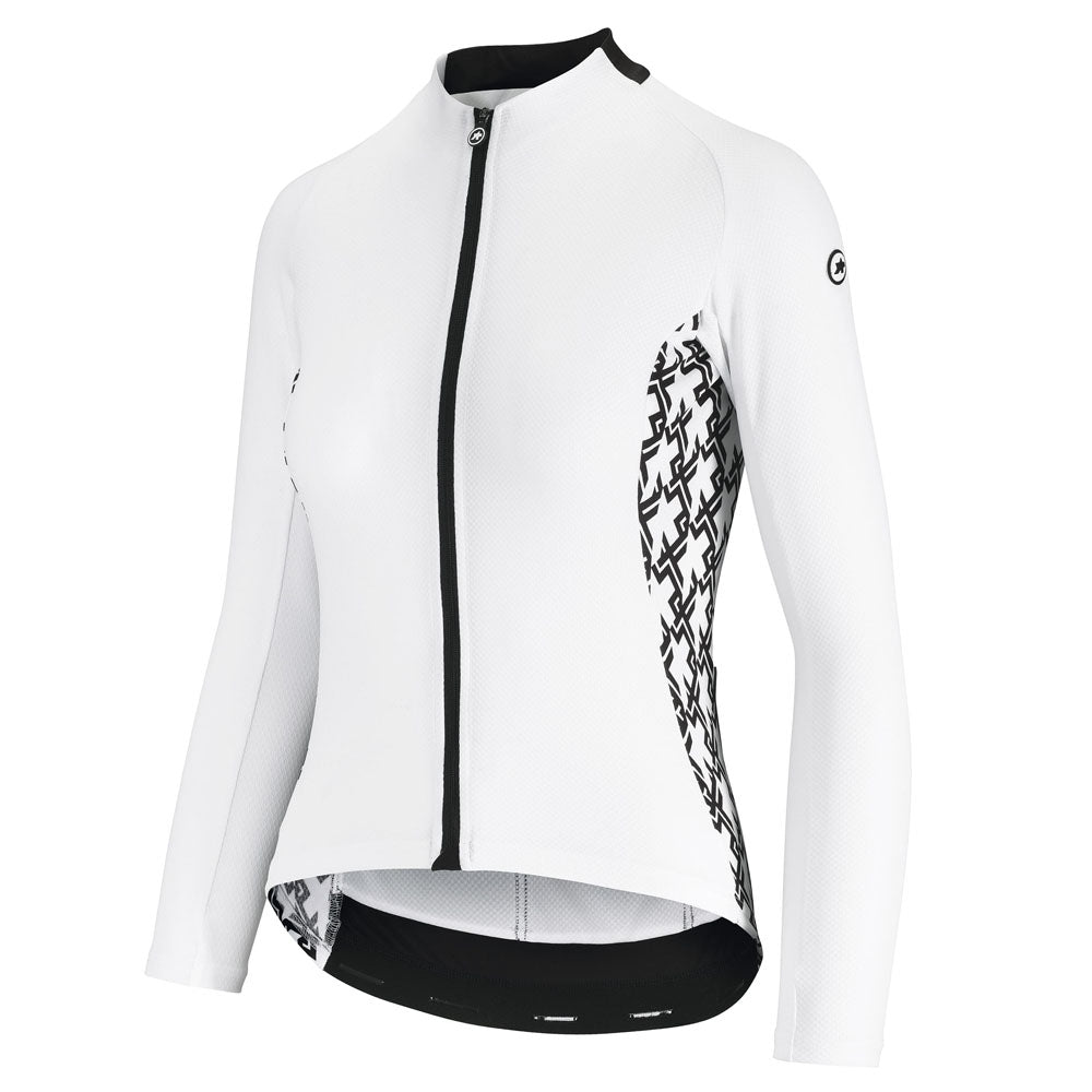 Assos UMA GT Summer Long Sleeve Jersey - Holy White | VeloVixen
