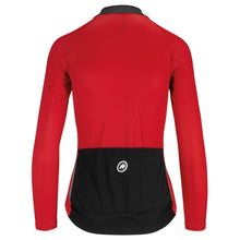Load image into Gallery viewer, Assos red long sleeve lightweight summer womens cycling jersey