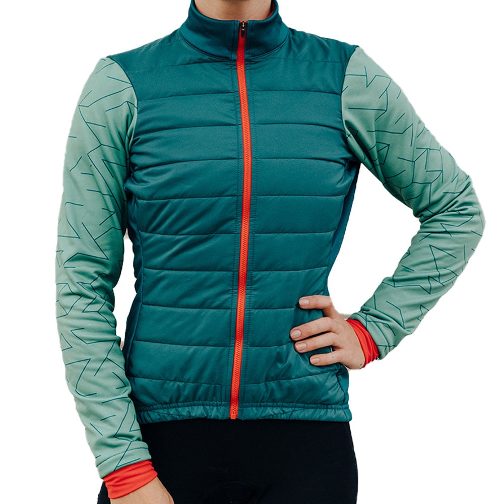 Iris Winter womens cycling Jacket - Evergreen