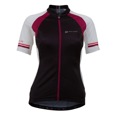 Polaris Vela Race Cycling Jersey (Black/Plum)