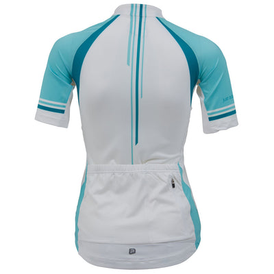 Polaris Vela Race Cycling Jersey (White/Duck Egg)