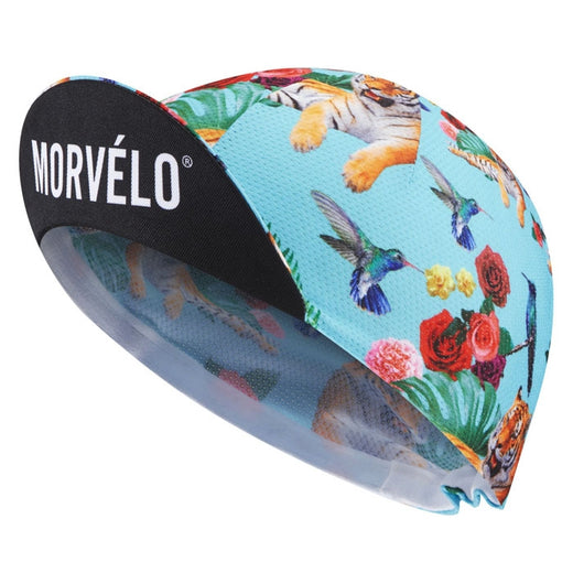 Morvelo tigers and humming birds cycling cap
