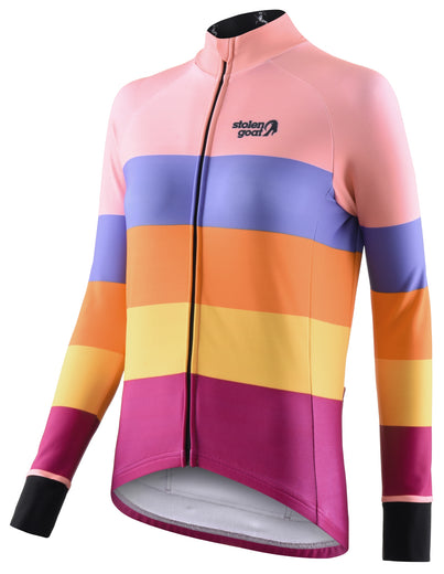 Stolen Goat Orkaan Everyday Long Sleeve Jersey - Crush | VeloVixen