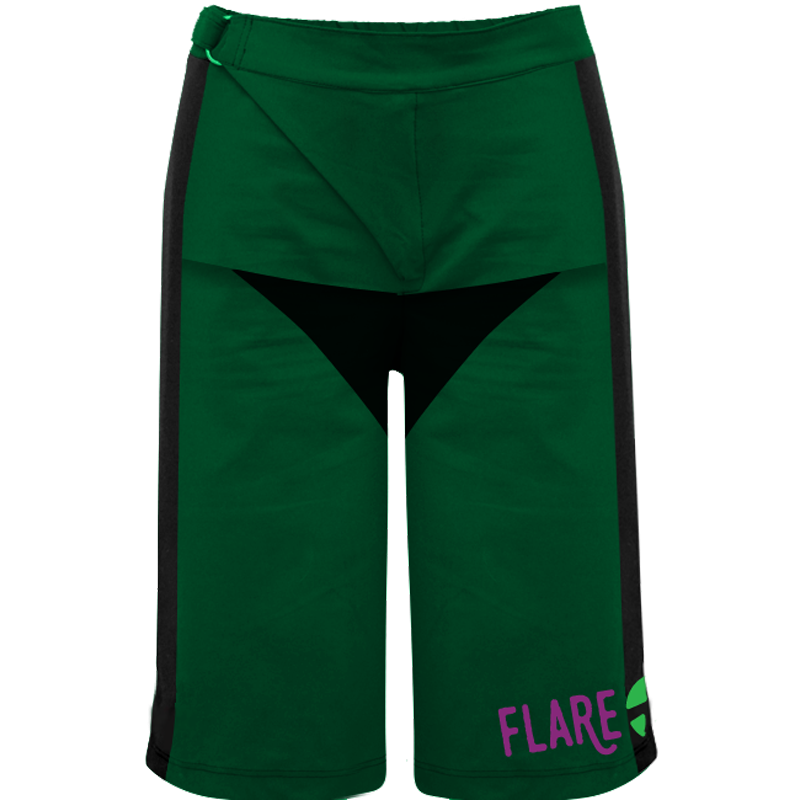 Flare Roost Downhill MTB Shorts (Green)