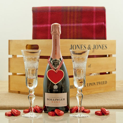 Valentine's Champagne Gift Hamper from Jones and Jones of Berwick-upon-Tweed