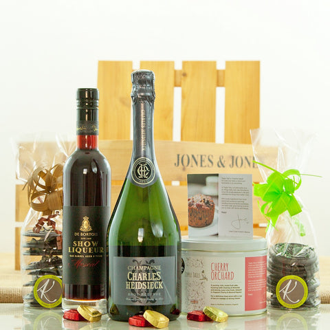 Luxury Champagne and Chocolates Christmas Gift Hamper from Jones and Jones of Berwick-upon-Tweed