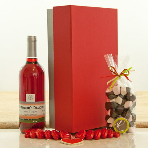 Valentine's Day Rosé Gift Hamper from Jones and Jones of Berwick-upon-Tweed