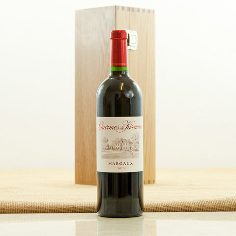 2010 Charmes de Kirwan Bordeaux Margaux in an Oak Presentation Case