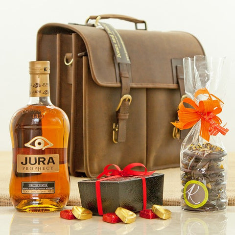 Jura Prophecy Whisky Heavy Duty Leather Briefcase
