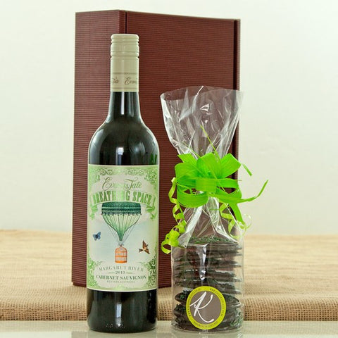 "Evans and Tate ""Breathing Space"" Cabernet Sauvignon and Mint Chocolate Disks Gift Box"