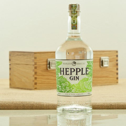 Northumberland's Hepple Gin in an Oak Presentation Case